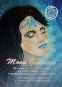 Moon Goddess Oracle deck by Eva Maria Hunt featuring my own channelled paintings www.spiritual-wonders.com
