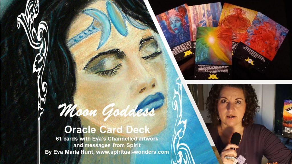 Moon Goddess Oracle deck by Eva Maria Hunt
